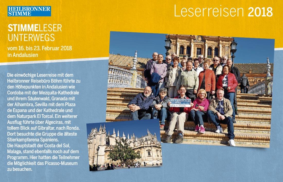 Stimme Leserreisen - Leser unterwegs in Andalusien